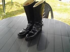 Genuine classic motorcycle boots, mens size 10