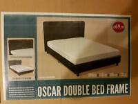 Leather bed frame brand new