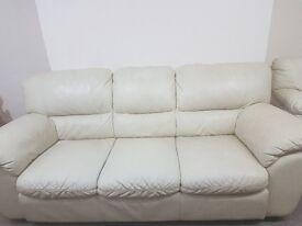 Leather Sofas Cream