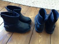 Brand New Childrens Black Biker Boots - GAP Sizes 10 & 11 Two Pairs - Sell £10.00 each