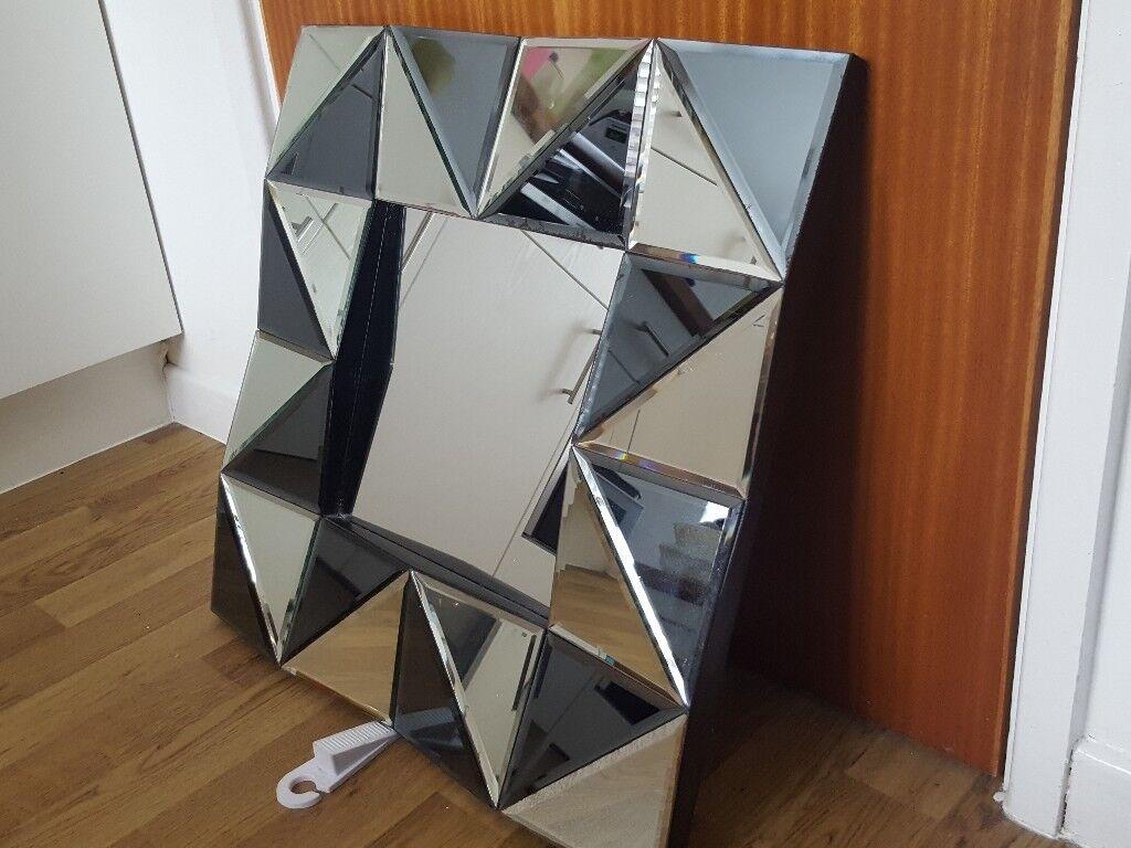 Art Silver Wall Mirror - 24 x 24 inches
