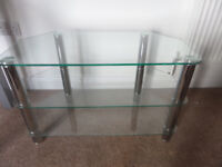 Matching Lounge Furniture- TV Stand, Coffee Tables + Bookcase, Chrome and Glass