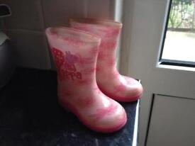 Peppa pig wellies size 4