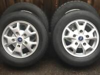 """16"""" Ford Transit Custom Alloy Wheels With 215 65 16 Tyres immaculate"""
