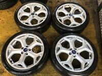 """18"""" GENUINE FORD FOCUS MONDEO GALAXY ST ALLOY WHEELS SET OF 4"""