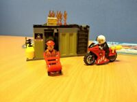 LEGO fire fighters bundle, three incomplete sets