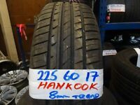 MATCHING SET 225 60 17 HANKOOK OPTIMAS ONLY DONE 500 MILES £140 SET SUPP & FITD (loads more av}