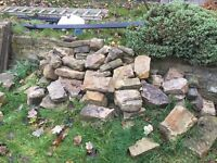 Yorkshire stone walling approx 6m2