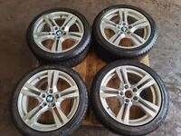 GENUINE BMW X1 E84 18'' INCH M-SPORT ALLOY WHEELS SET WITH TYRES 225/45/R18