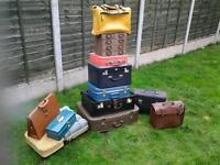 Vintage suitcases ideal bedroom or shop display or upcycling projects