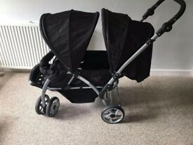 Baby start double pushchair 1 month old amazing condition