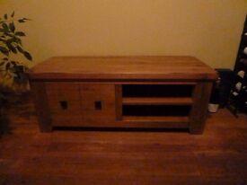 NEXT Solid wood rustic effect TV unit