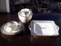 12 Place Setting Tea Set Milk Jug, Sugar Bowl and Sandwich Plates