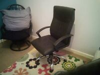 Black office swivel chair free to collector