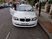 1.6ld White BMW 1 Series - Rare Black Leather Trim & Red Interior - Full Service History