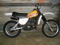 Yamaha yz250 classic motocross.