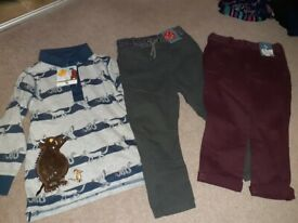 Brand new boys clothes age 3-4 years