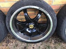 """17"""" Black Wolfrace Alloy Wheels"""
