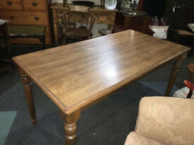Fab Large Wooden Kitchen Dining Table Wood & Oak Veneer 6 Seater