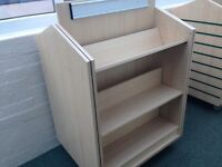Solid, sturdy school double sided bookshelf