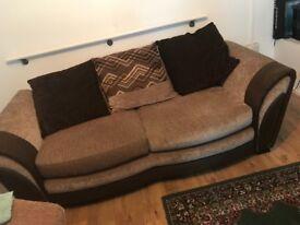 Brown 2 seater sofa