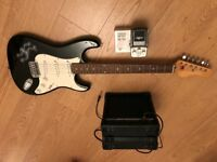 "39"" Electric Guitar, Amp and Delay Pedal"