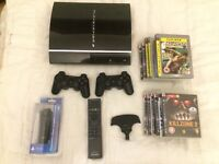 PS3 40GB + 2 controllers, 13 games, PS3 Move controller + more!