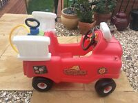 Little tikes ride along fire engine and pump