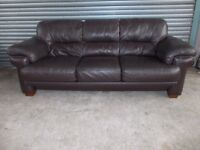 Large Brown Leather 3+2-seater Suite (Sofa)