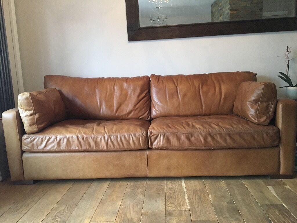 House Of Fraser Aniline Leather Sofas