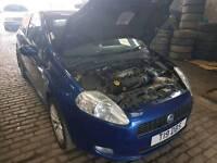 Breaking Fiat Grande Punto diesel blue 2006 2007 2 door