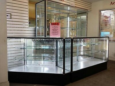 Showcase Corner Case And Wallcase 3 Pieces Set - Aluminum Frame Showcase Sale