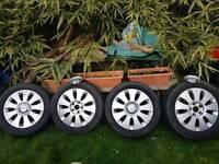 Alloy wheels 16' for audi 5 stud