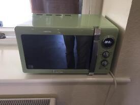 Swan Fridge freezer, microwave, kettle and toaster set