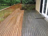 Pressure washing / driveway cleaning , stair and basement cleaning walls and decking