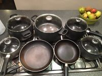 Pampered Chef Pans with Lids (used)