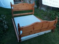 Double Airsprung pine bed