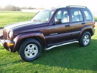 (ONLY 2 OWNER) 4X4 JEEP CHEROKEE 2.8td DIESEL AUTO HI/LOW 4WD RED/LEATHER TRIM LONG MOT 04 REG £1795