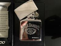 Jack Daniels Engraved Collectable Zippo Lighter Polished