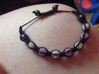 Brand new genuine lilac&silver tresor Paris bracelet