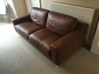 Stunning Italian Made Leather 3 Seater Sofa