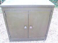 Green metal storage/filing units (very old)