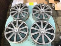 Used, Genuine MK5 Golf R32 Omanyt Alloy Wheels for sale  Blandford Forum, Dorset
