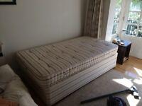 Single Bed (mattress and divan) Staples Ortho Rosette springs