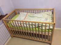 Baby Cot bed (Crib) rarely used for sale. Must go!
