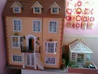 Handmade victorian large dolls house