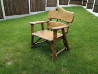 Solid, heavy, Handmade Wooden Garden Furniture Oak - Armchair