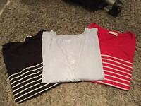 3 jojo maman Bebe and gap maternity feeding tops