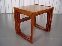G-Plan Quadrille Teak Nest Of Tables Designed By R. Bennett