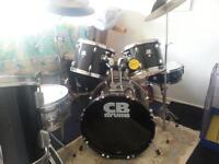 full drum kit And stool very good condition